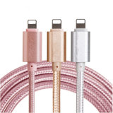 câble usb en nylon principal en aluminium de chargeur de la peau 2.1A de 1m