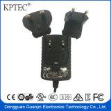 adaptador permutable de la potencia del enchufe de 24V 0.5A