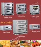 Pizza de gaz de machines de nourriture de modèle/four professionnels de pain à vendre