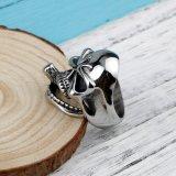 ステンレス鋼の動物の性の陽気な結婚指輪の頭骨は卸しで鳴る