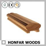 Лестница украшения лестницы гостиницы ограждая поручень твердой древесины