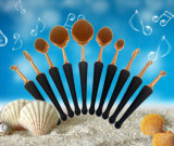 Щетка состава конструкции раковины моря щетки 10PCS косметик свободно образца с краснеет щетка
