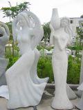 화강암 또는 대리석 조각품을 새기는 돌 숫자 또는 동물 동상
