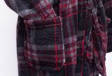 新製品の標準的な様式の赤くか青の格子バスローブ