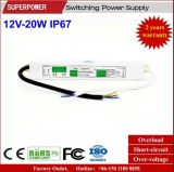 LEIDENE Voltage van het HOOFD van de Bestuurder Levering van de Constante 12V 20W de Waterdichte Macht van de Omschakeling IP67