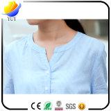 方法縞の綿および整形ウエストのワイシャツの服のBowknotの服
