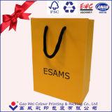 中国の製造者の最上質の金のカードのペーパーショッピング・バッグ、靴袋、紙袋