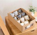 El papel amontonable plegable de papel del espesamiento Kraft de Kraftpaper Shoebox calza el rectángulo de almacenaje, fácil recibir el rectángulo de zapato con ve a través la ventana para el rectángulo de almacenaje de los cabritos