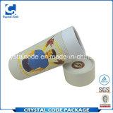 Figura e luminoso eleganti in contenitore di tubo del documento di colore