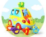 Kind-pädagogisches glückliches Bus-Baby-Plastikspielzeug