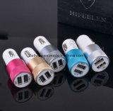 Металла кабеля заряжателя заряжателя автомобиля продуктов заряжатель автомобиля USB быстро СИД мира самый лучший продавая передвижного алюминиевого двойной
