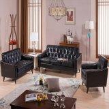 現代簡単な喫茶店およびホテルおよび居間の革ソファー