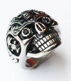 Schädel-Ring-Punkart-Edelstahl-Ring der Männer für Männer