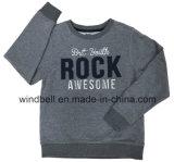 Peached Gewebe-Schweiss-Pullover für Jungen mit Zeichen-Änderung am Objektprogramm