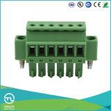 피치 3.5 mm 나사 M3 연결 똑바른 녹색 PCB 일어나는 죔쇠