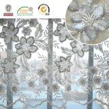 Nuovo fiore 139 del tessuto Shine+Sequin del merletto del ricamo di disegno di Caldo-Vendita