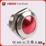 Interruptor de pulsador momentáneo abierto normal anti de la terminal de tornillo del acero inoxidable del vándalo del Ce ISO9001 19m m