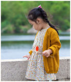 Roupa 100% amarela macia dos miúdos do algodão para meninas