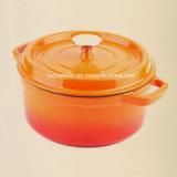 OEMのエナメルの鋳鉄の調理器具のカセロールの鍋のダッチオーブンのCocotte中国の工場