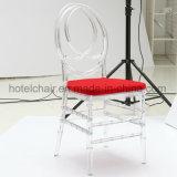 방석을%s 가진 Tiffany 의자 Chiavari 아크릴 투명한 의자