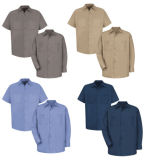 رجال صناعيّ 100% قطن قوّة بحريّة عمل قميص ([أ1004])