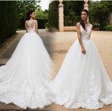 Vestido de casamento inchado nupcial Mrl2887 dos vestidos de esfera do espartilho do laço
