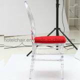 Cadeira transparente acrílica de Chiavari da cadeira de Tiffany com coxim