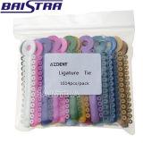 Lazo elástico de la ligadura del uso ortodóntico mezclado dental del color
