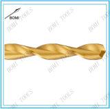 El dígito binario de taladro largo de la longitud del HSS, estaña la asta revestida, redonda con espiga, flauta parabólica