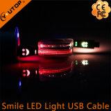 LED-Licht-Lächeln USB-aufladendaten-Kabel für Andriod Mobiltelefon