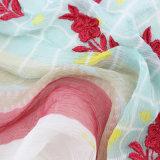 Scialle stampato seta personalizzato di 100% con ricamo (AMA170609-4)