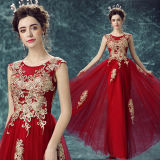 2016 Desing neuf plus la robe Guangzhou de rouge de vin de soirée de taille
