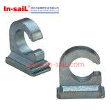 Прямоугольно - напечатайте Raa на машинке, крепежную деталь металлического листа Ras