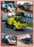 Isuzu 5000L camión succionador de aguas residuales con la bomba de vacío para la aspiración de residuos