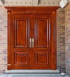 Portello di legno anteriore dell'entrata principale del portello di entrata della villa (GSP1-004)