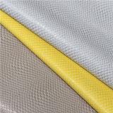Couro artificial material do plutônio da textura elegante da serpente para bolsas