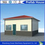 La protección del medio ambiente prefabricó la casa modular de la estructura de acero nominada por la Cruz Roja internacional para la reconstrucción del desastre
