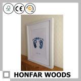 Bebé de madera negro creativo Footprint&Handprint del marco para la decoración de la pared