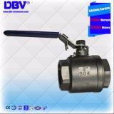 Robinet à tournant sphérique industriel d'amorçages de levier de pouce 304 de Dbv 2