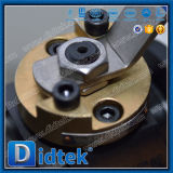 Vávula de bola dura del sello A105 SS316 del asiento antiexplosión de Didtek con la palanca de la mano