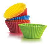 Комплект 6 вкладышей пирожня силикона чашек выпечки силикона многоразовых