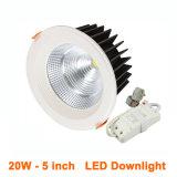 luz interior do diodo emissor de luz do diodo emissor de luz Downlight da ESPIGA do CREE de 10W 15W 20W