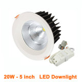 15W 에너지 절약 Downlights 크리 사람 옥수수 속 LED 유연한 꾸며진 스포트라이트 125mm 삭감된 구멍