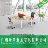 Nuevo escritorio del ordenador de oficina de la pierna del acero inoxidable del diseño