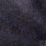 Tessuti Mixed delle lane per l'inverno di autunno nell'azzurro di blu marino, mano molle