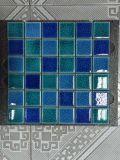 Telha cerâmica do mosaico da piscina da rachadura azul misturada do gelo