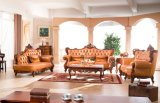 Sofà di cuoio di Chesterfield della mobilia di stile dell'Europa con la mobilia del sofà del cuoio genuino