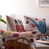 綿リネンプリント枕はソファのための投球枕を覆う