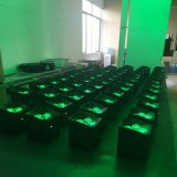 Батарея нового продукта 4*18W 6in1 Rgbaw высокого качества UV - приведенное в действие беспроволочное РАВЕНСТВО СИД может свет этапа дистанционного управления 6/10CH Irc