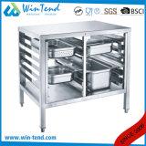 Kundengerechter Berufsdoppelreihen-Fußboden-Unterseiten-Standplatz für Küche-Gerät
